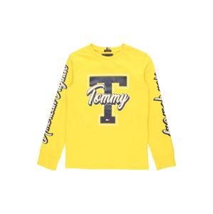 TOMMY HILFIGER Tričko 'FUN VARSITY'  žlutá / noční modrá / bílá