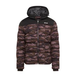 Schott NYC Přechodná bunda 'UTAH 2'  khaki / černá / světle béžová