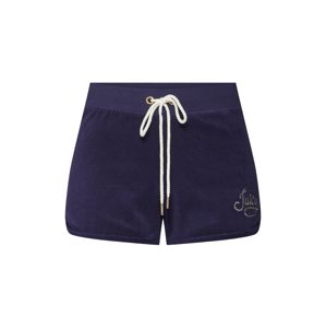 Juicy Couture Black Label Kalhoty 'ROPE MICRO TERRY SHORT'  modrá