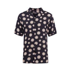 BURTON MENSWEAR LONDON Košile 'Sun Tile'  žlutá / černá
