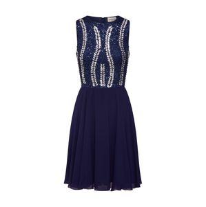 LACE & BEADS Koktejlové šaty 'Bunny Dress'  námořnická modř / stříbrná