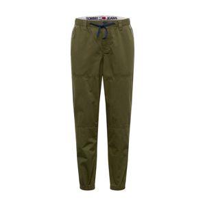 Tommy Jeans Chino kalhoty 'PIECED'  olivová