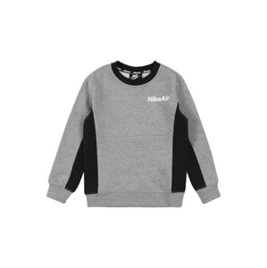 Nike Sportswear Mikina  černá / šedá / bílá