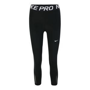 NIKE Sportovní kalhoty 'Pro'  černá / bílá