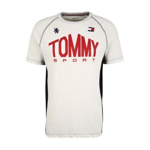 Tommy Sport Funkční tričko 'ICONIC'  červená / bílá