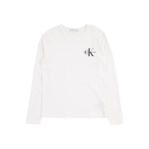 Calvin Klein Jeans Tričko  bílá / černá / šedý melír