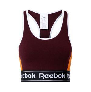 REEBOK Sportovní podprsenka  bordó / bílá / oranžová