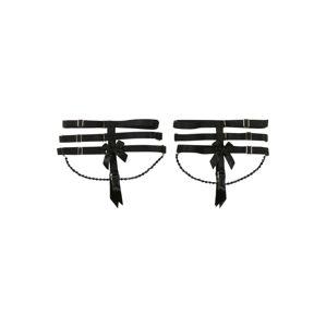 Hunkemöller Podvazek 'Private Suspender Cuffs Chain'  černá