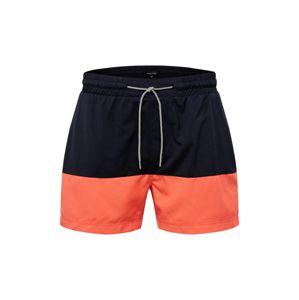 recolution Plavecké šortky  námořnická modř / oranžová