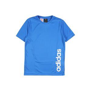 ADIDAS PERFORMANCE Funkční tričko  bílá / nebeská modř