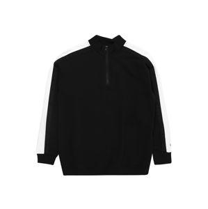 Calvin Klein Jeans Mikina  bílá / černá