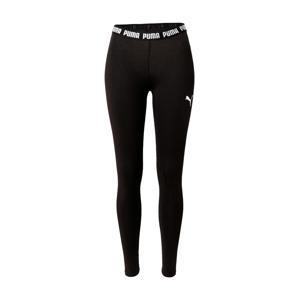 PUMA Sportovní kalhoty 'Metallic Nights'  černá / bílá