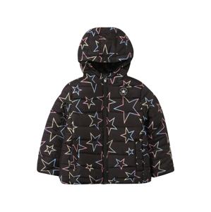 CONVERSE Zimní bunda  černá / žlutá / pink / světlemodrá