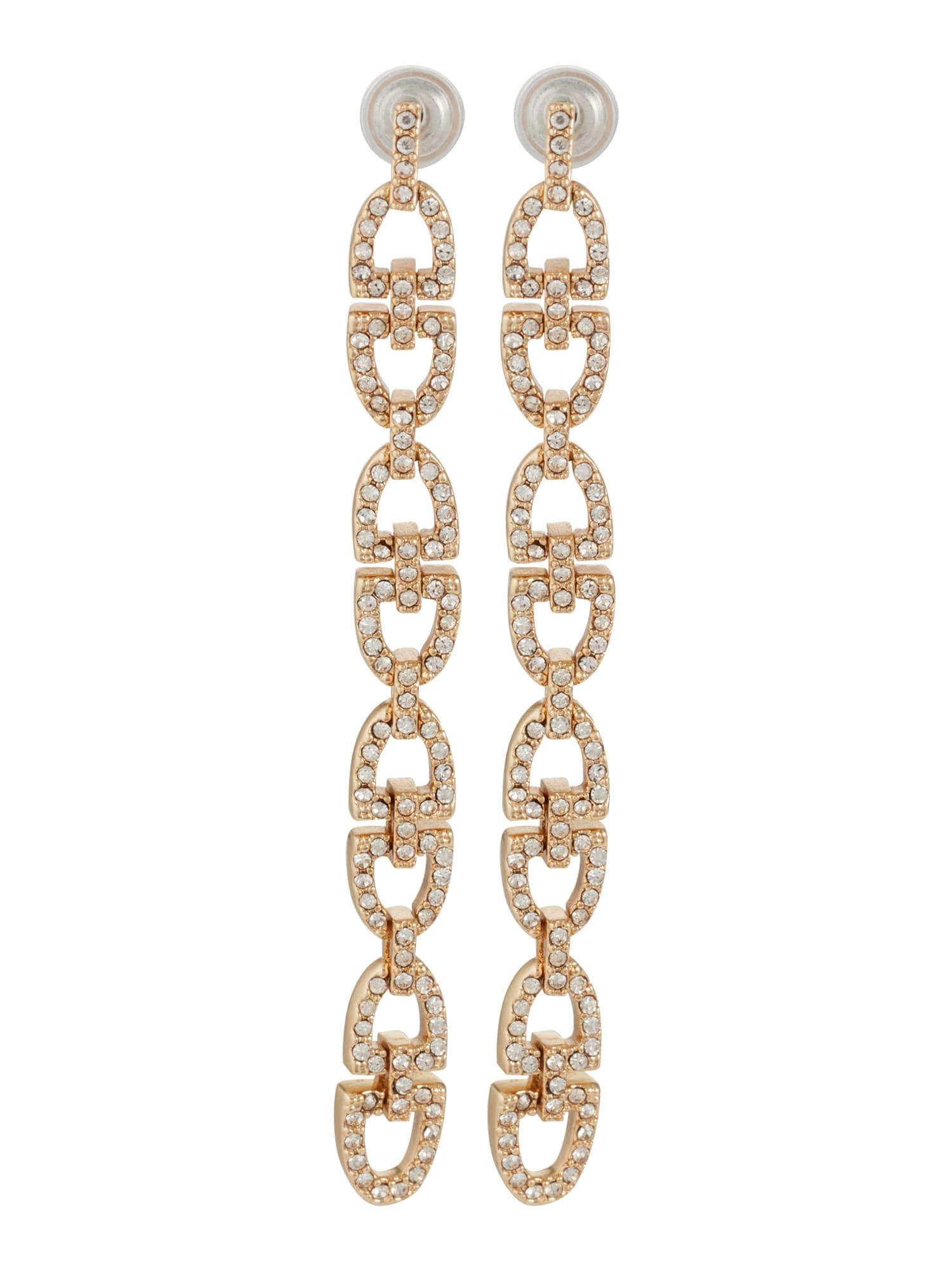 Lauren Ralph Lauren Náušnice  zlatá / bílá