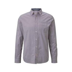 TOM TAILOR Košile  modrá / světle hnědá