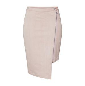 Pop Copenhagen Sukně 'Long Biker Wrap Skirt'  růžová