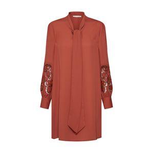 mint&berry Košilové šaty 'M32_SS19_2-1-C_101'  rezavě hnědá