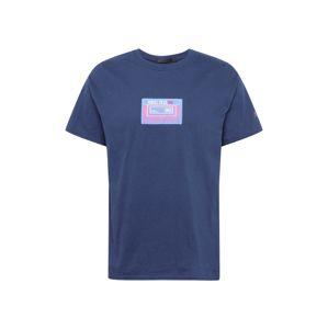 Mennace Tričko 'PRIDE CASSETTE'  námořnická modř / světlemodrá / pink