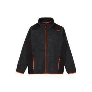 CMP Funkční flísová bunda  antracitová / svítivě oranžová