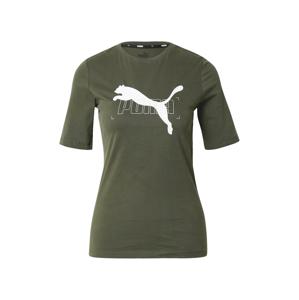 PUMA Funkční tričko 'Nu-tility'  tmavě zelená / bílá