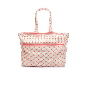 LASCANA Plážová taška  krémová / korálová