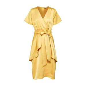 Lost Ink Koktejlové šaty  žlutá