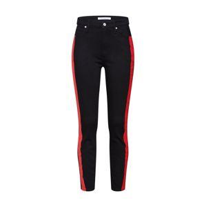 Calvin Klein Jeans Džíny  červená / černá