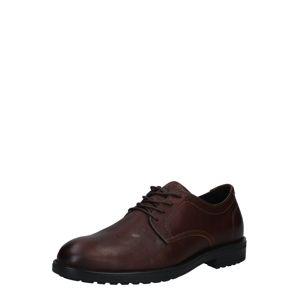 BULLBOXER Šněrovací boty  tmavě hnědá