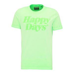 Petrol Industries Tričko  pastelově zelená / svítivě zelená