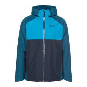 JACK WOLFSKIN Outdoorová bunda 'MOUNT ISA'  nebeská modř / petrolejová / tmavě modrá