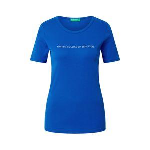 UNITED COLORS OF BENETTON Tričko  kobaltová modř / stříbrná