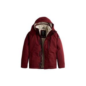 HOLLISTER Zimní bunda  burgundská červeň