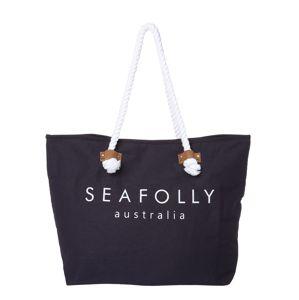 Seafolly Plážová taška 'Ship Sail Tote'  tmavě modrá