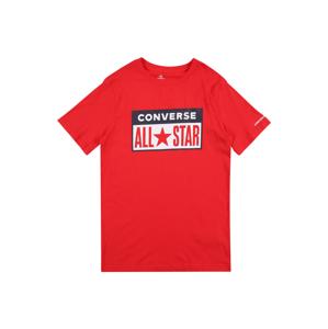 CONVERSE Tričko  červená / bílá / černá
