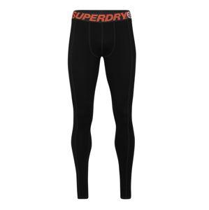 Superdry Snow Sportovní spodní prádlo 'CARBON BASELAYER LEGGING'  černá