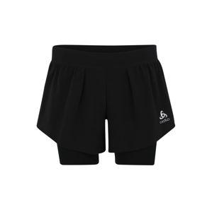 ODLO Sportovní kalhoty '2-in-1 ZEROWEIGHT Ceramicool PRO'  černá / bílá