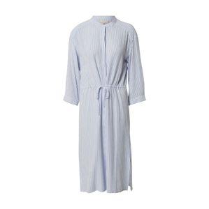 Soft Rebels Košilové šaty 'Allysia'  bílá / světlemodrá