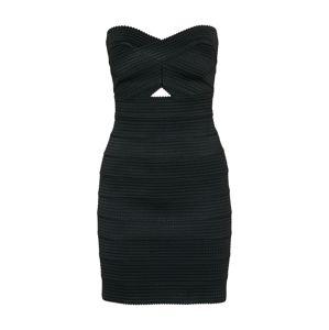 Review Koktejlové šaty 'CORSAGE TAPE'  černá
