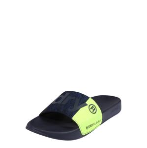 Superdry Pantofle  limetková / námořnická modř