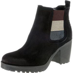 Tommy Jeans Kotníkové boty 'Essential'  černá / stříbrná / chladná modrá