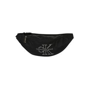 Calvin Klein Jeans Ledvinka  černá / bílá