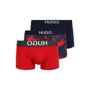 HUGO Boxerky  červená / černá / chladná modrá / bílá