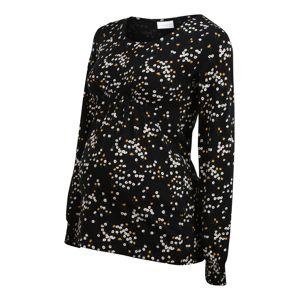 MAMALICIOUS Tričko 'LABI'  černá / bílá / žlutá