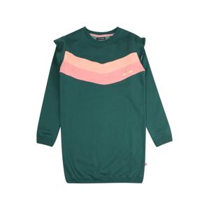 LEMON BERET Šaty  smaragdová / světle růžová