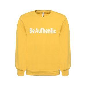 BLUE EFFECT Mikina 'BE Authentic'  žlutá / bílá