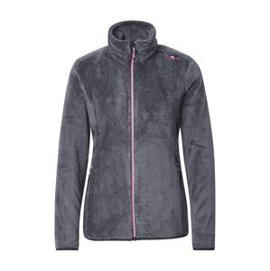 CMP Funkční fleecová mikina  pink / šedá