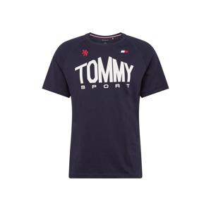 Tommy Sport Funkční tričko  bílá / námořnická modř / červená