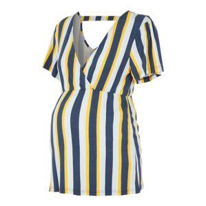 MAMALICIOUS Tričko 'Fiona'  žlutá / modrá / bílá