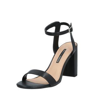 Dorothy Perkins Páskové sandály 'Shimmer'  černá