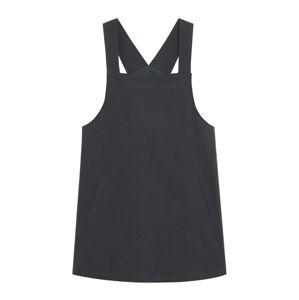 MANGO Laclová sukně  antracitová